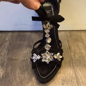 Authentic Dior Heels with Crystal Detail